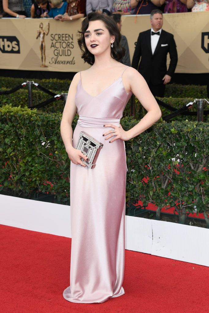 LOS ANGELES, CA - JANUARY 29:  Actor Maisie Williams attends The 23rd Annual Screen Actors Guild Awards at The Shrine Auditorium on January 29, 2017 in Los Angeles, California. 26592_008  (Photo by Frazer Harrison/Getty Images)
