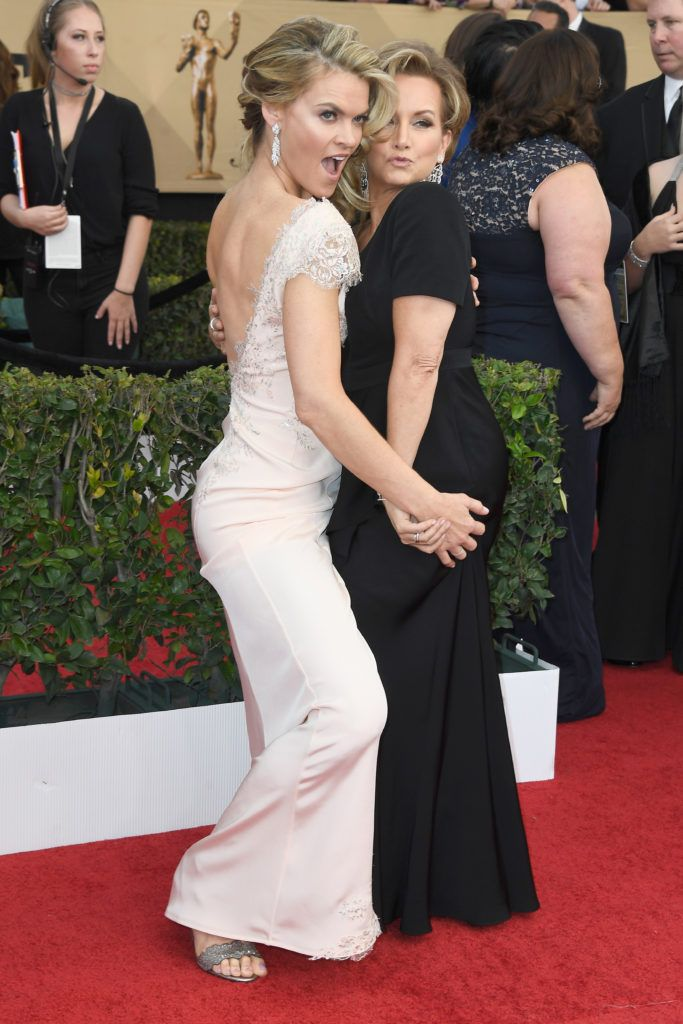 LOS ANGELES, CA - JANUARY 29:  Actor Missi Pyle (L) and SAG-AFTRA President Gabrielle Carteris attend The 23rd Annual Screen Actors Guild Awards at The Shrine Auditorium on January 29, 2017 in Los Angeles, California. 26592_008  (Photo by Frazer Harrison/Getty Images)