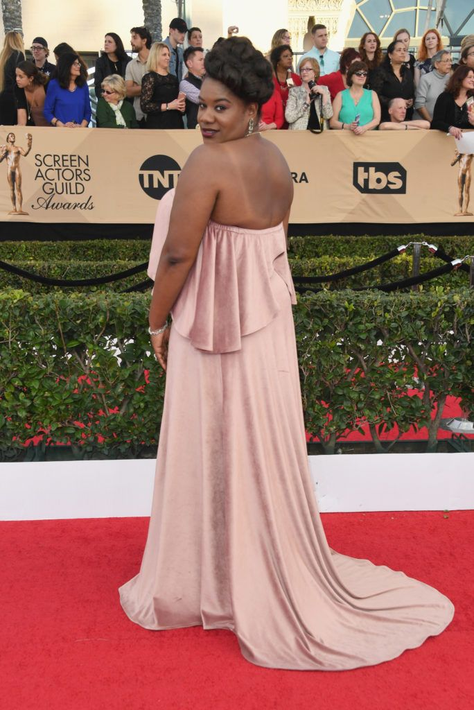 LOS ANGELES, CA - JANUARY 29:  Actor Adrienne C. Moore attends the 23rd Annual Screen Actors Guild Awards at The Shrine Expo Hall on January 29, 2017 in Los Angeles, California.  (Photo by Alberto E. Rodriguez/Getty Images)