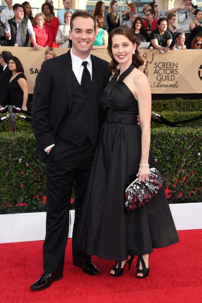 LOS ANGELES, CA - JANUARY 29:  Actors Jeff Meacham and Christy Meyers attend the 23rd Annual Screen Actors Guild Awards at The Shrine Expo Hall on January 29, 2017 in Los Angeles, California.  (Photo by Alberto E. Rodriguez/Getty Images)