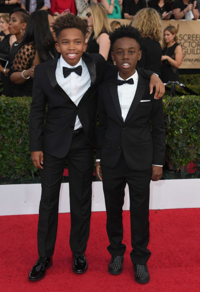 LOS ANGELES, CA - JANUARY 29:   Actors Jaden Piner and Alex R. Hibbert attend the 23rd Annual Screen Actors Guild Awards at The Shrine Expo Hall on January 29, 2017 in Los Angeles, California.  (Photo by Alberto E. Rodriguez/Getty Images)