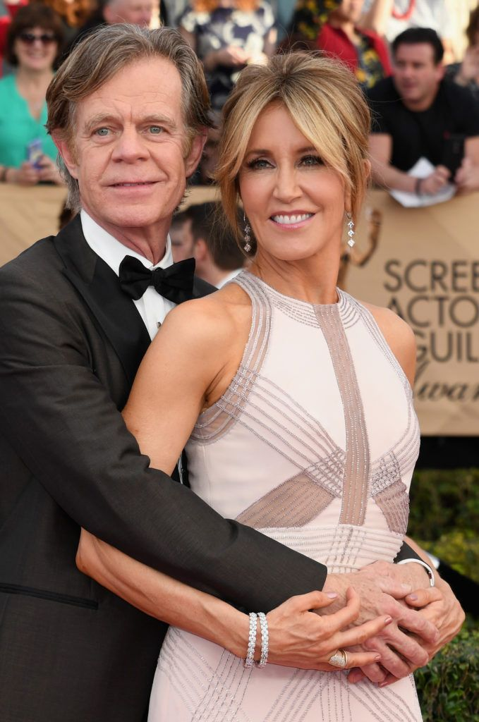 LOS ANGELES, CA - JANUARY 29:  Actors William H. Macy and Felicity Huffman attend the 23rd Annual Screen Actors Guild Awards at The Shrine Expo Hall on January 29, 2017 in Los Angeles, California.  (Photo by Alberto E. Rodriguez/Getty Images)