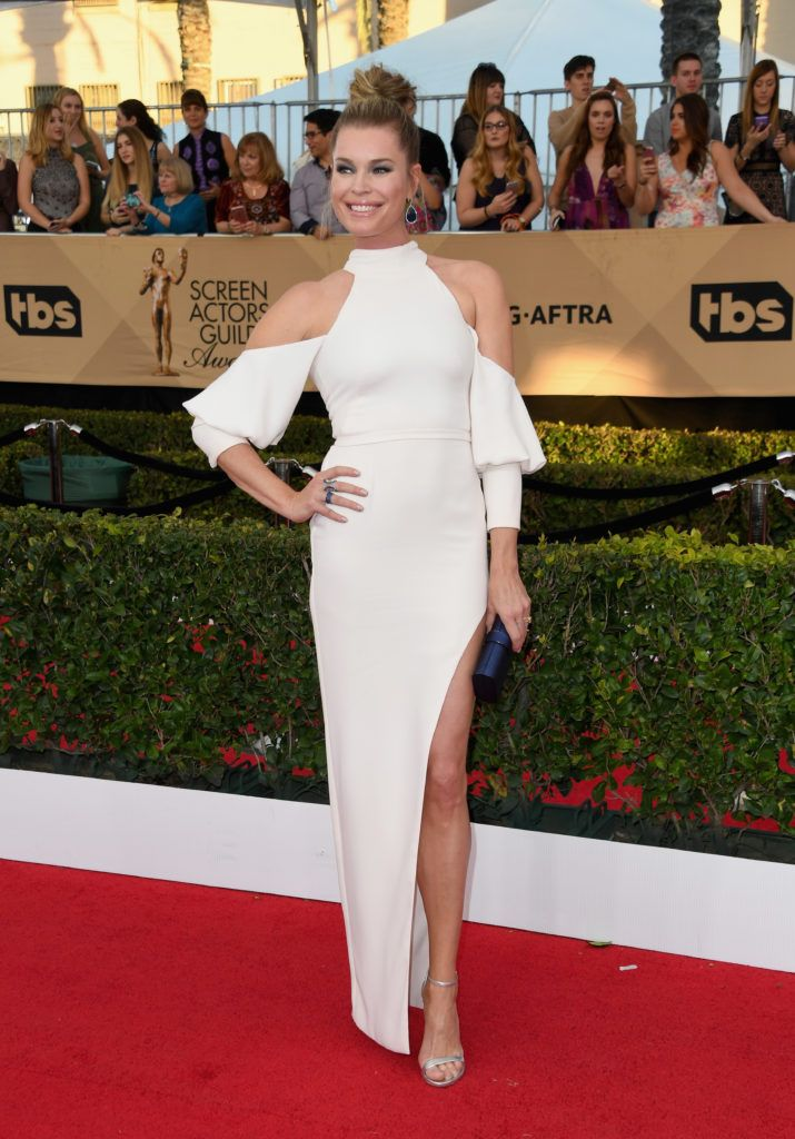LOS ANGELES, CA - JANUARY 29:  Actor Rebecca Romijn attends the 23rd Annual Screen Actors Guild Awards at The Shrine Expo Hall on January 29, 2017 in Los Angeles, California.  (Photo by Alberto E. Rodriguez/Getty Images)