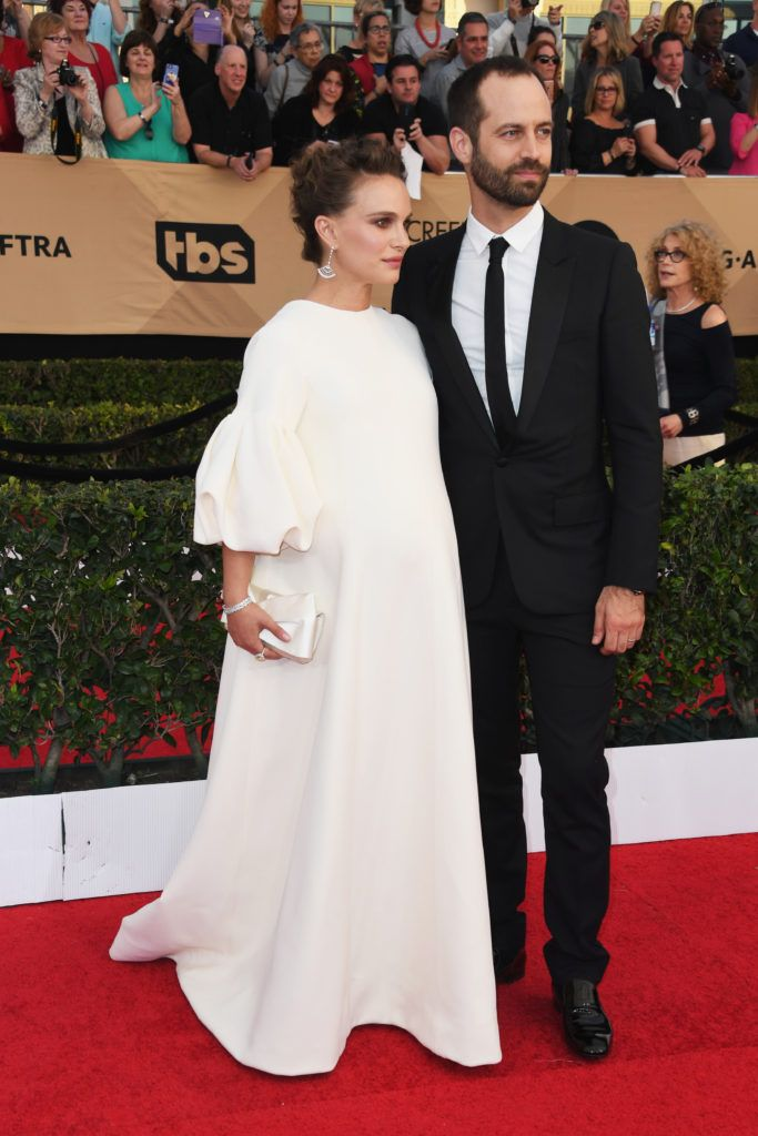 LOS ANGELES, CA - JANUARY 29:  Actress Natalie Portman (L) and choreographer Benjamin Millepied attend the 23rd Annual Screen Actors Guild Awards at The Shrine Expo Hall on January 29, 2017 in Los Angeles, California.  (Photo by Alberto E. Rodriguez/Getty Images)