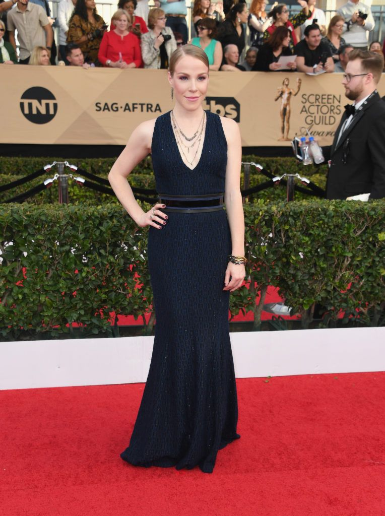 LOS ANGELES, CA - JANUARY 29:  Actor Emma Myles attends the 23rd Annual Screen Actors Guild Awards at The Shrine Expo Hall on January 29, 2017 in Los Angeles, California.  (Photo by Alberto E. Rodriguez/Getty Images)