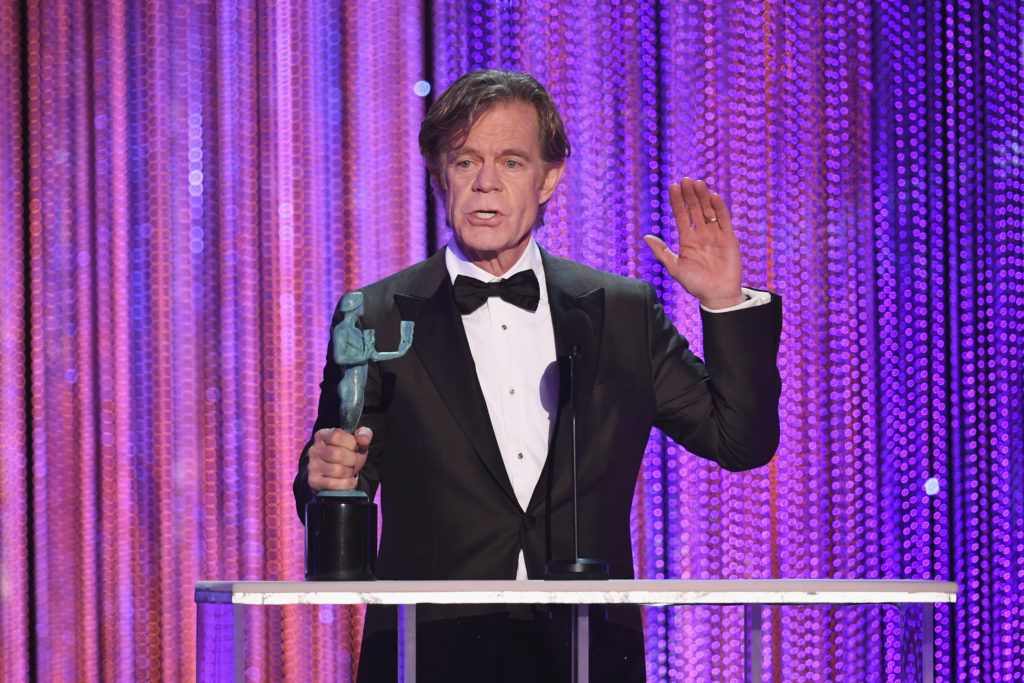 LOS ANGELES, CA - JANUARY 29:  Actor William H. Macy accepts Outstanding Performance by a Male Actor in a Comedy Series for 'Shameless' onstage during The 23rd Annual Screen Actors Guild Awards at The Shrine Auditorium on January 29, 2017 in Los Angeles, California. 26592_014  (Photo by Kevin Winter/Getty Images )