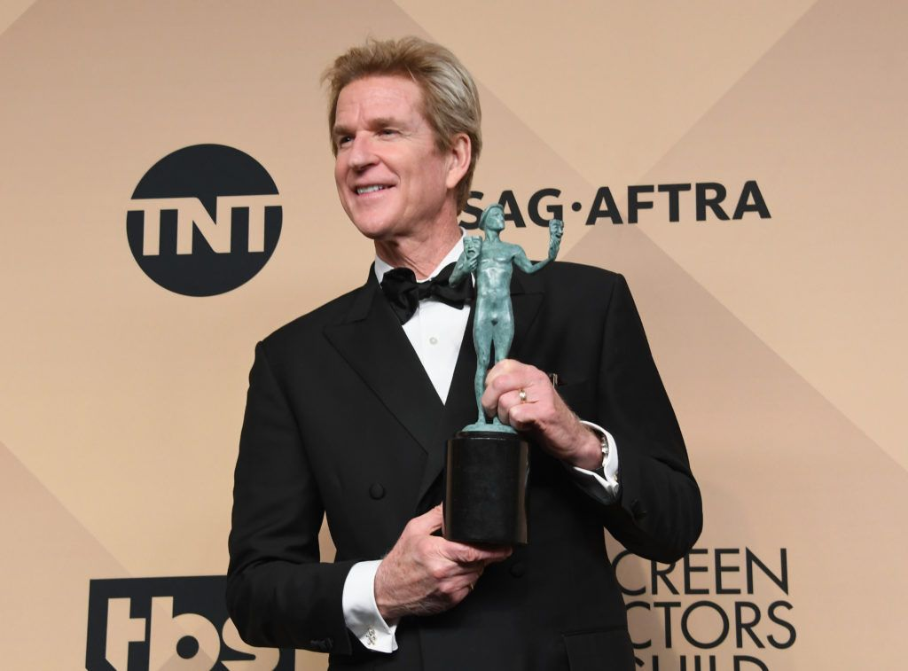 LOS ANGELES, CA - JANUARY 29:  Actor Matthew Modine, co-recipient of the Outstanding Performance by an Ensemble in a Drama Series award for 'Stranger Things,' poses in the press room during the 23rd Annual Screen Actors Guild Awards at The Shrine Expo Hall on January 29, 2017 in Los Angeles, California.  (Photo by Alberto E. Rodriguez/Getty Images)