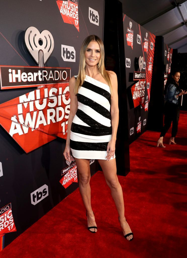 TV personality Heidi Klum attends the 2017 iHeartRadio Music Awards which broadcast live on Turner's TBS, TNT, and truTV at The Forum on March 5, 2017 in Inglewood, California.  (Photo by Jonathan Leibson/Getty Images for iHeartMedia)