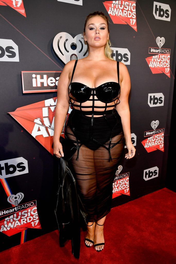Model Hunter McGrady attends the 2017 iHeartRadio Music Awards which broadcast live on Turner's TBS, TNT, and truTV at The Forum on March 5, 2017 in Inglewood, California.  (Photo by Frazer Harrison/Getty Images for iHeartMedia)