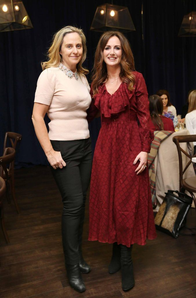 Pictured at the Kiehls and Arnotts supper launch event of Midnight Recovery Botanical Cleansing Oil held at Clodagh's Kitchen were (LtoR) Debbie O'Donnell and Lorraine Keane. The highly anticipated launch of Midnight Recovery Botanical Cleansing Oil takes place from March 19th. Photo: Sasko Lazarov/Photocall Ireland