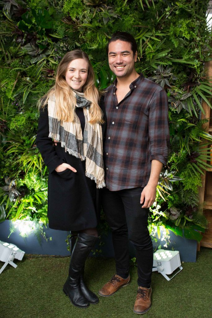 Aleshia Miller and Alexander Nordmark  pictured at the launch of the Urban Veda natural skincare range in Ireland at House Dublin, Lower Leeson St. Photo by Richie Stokes