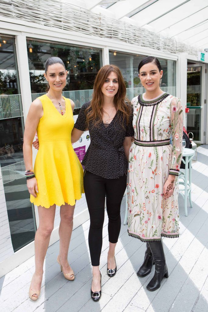 Alison Canavan Holly White and Ruth Griffin  pictured at the launch of the Urban Veda natural skincare range in Ireland at House Dublin, Lower Leeson St. Photo by Richie Stokes