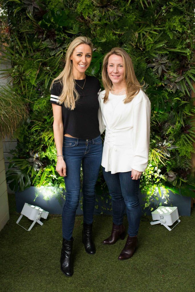 Jane Deasy and Hilary Campbel  pictured at the launch of the Urban Veda natural skincare range in Ireland at House Dublin, Lower Leeson St. Photo by Richie Stokes