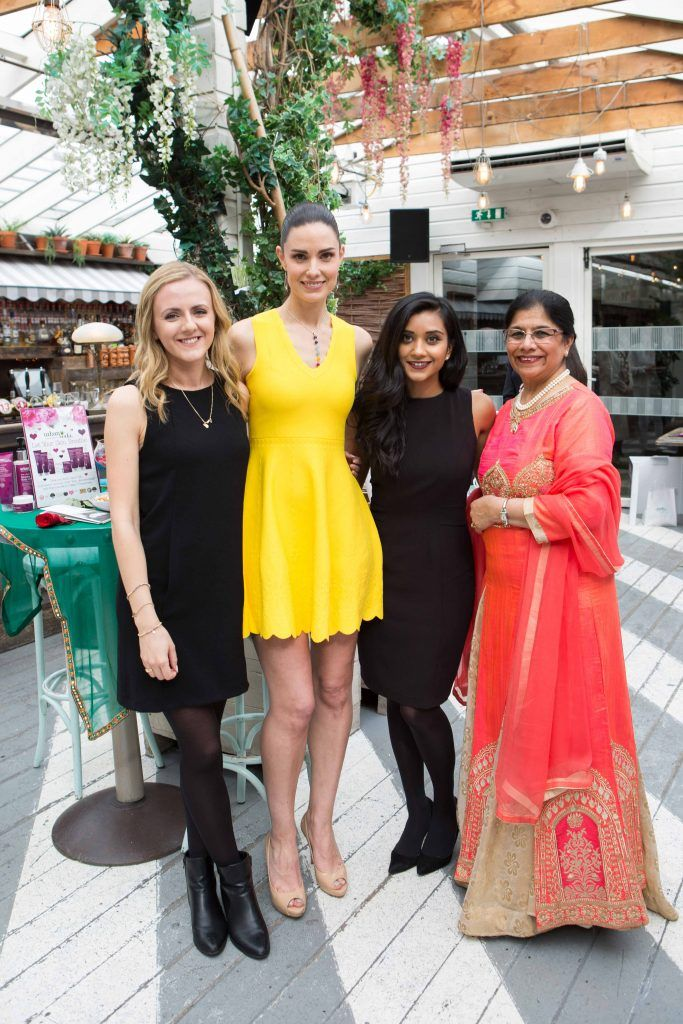Lottie Pearce Alison Canavan Tanya and Rita Shah   pictured at the launch of the Urban Veda natural skincare range in Ireland at House Dublin, Lower Leeson St. Photo by Richie Stokes