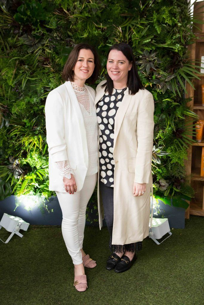 Orlagh O'Reilly and Corina Gaffey  pictured at the launch of the Urban Veda natural skincare range in Ireland at House Dublin, Lower Leeson St. Photo by Richie Stokes