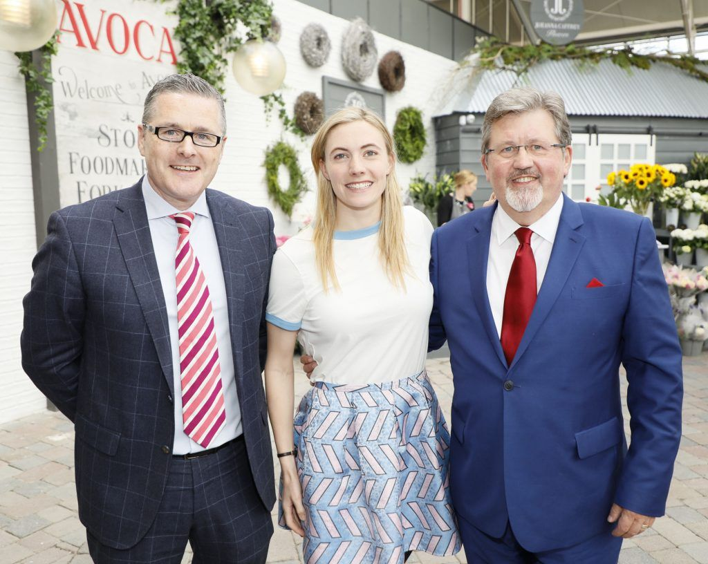 David Barker, Natalya Coyle and Donal O'Brien at the exclusive launch of AVOCA Dunboyne in the beautiful surrounds of the brand-new store on Tuesday 4th April. The event was attended by key lifestyle media, social influencers and stylists-photo Kieran Harnett