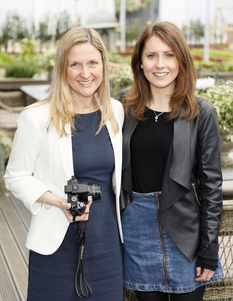 Judy Fusco Linnane and Mo Mason Jones at the exclusive launch of AVOCA Dunboyne in the beautiful surrounds of the brand-new store on Tuesday 4th April. The event was attended by key lifestyle media, social influencers and stylists-photo Kieran Harnett