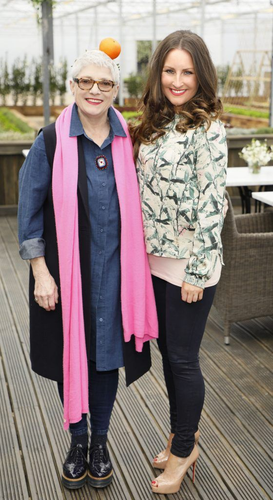 Ros Walshe and Maoliosa Connell at the exclusive launch of AVOCA Dunboyne in the beautiful surrounds of the brand-new store on Tuesday 4th April. The event was attended by key lifestyle media, social influencers and stylists-photo Kieran Harnett