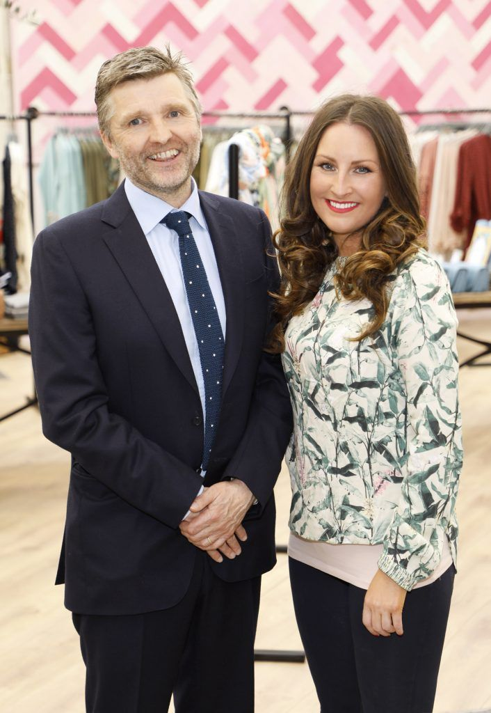 Simon Pratt and Maoliosa Connell at the exclusive launch of AVOCA Dunboyne in the beautiful surrounds of the brand-new store on Tuesday 4th April. The event was attended by key lifestyle media, social influencers and stylists-photo Kieran Harnett