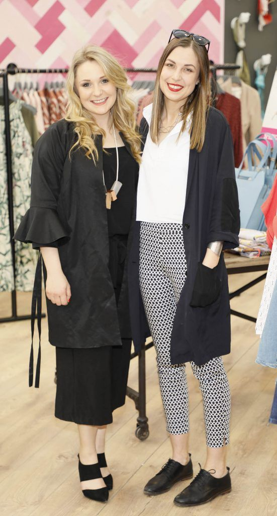 Susannah Hill and Ciara McDonald at the exclusive launch of AVOCA Dunboyne in the beautiful surrounds of the brand-new store on Tuesday 4th April. The event was attended by key lifestyle media, social influencers and stylists-photo Kieran Harnett