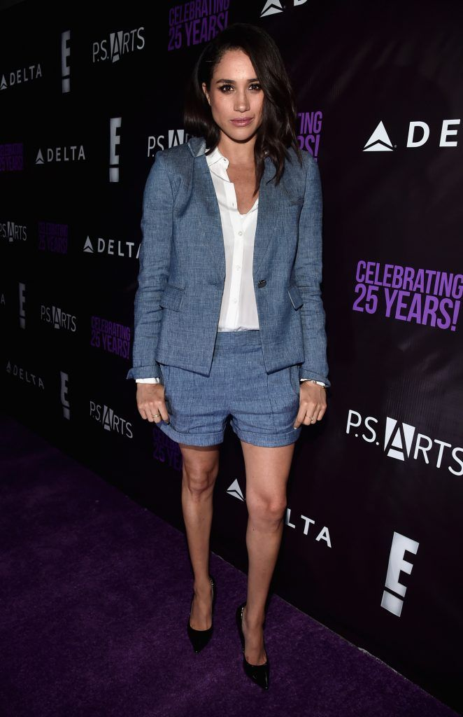 Meghan Markle attends P.S. Arts' The pARTy at NeueHouse Hollywood on May 20, 2016 in Los Angeles, California.  (Photo by Alberto E. Rodriguez/Getty Images)