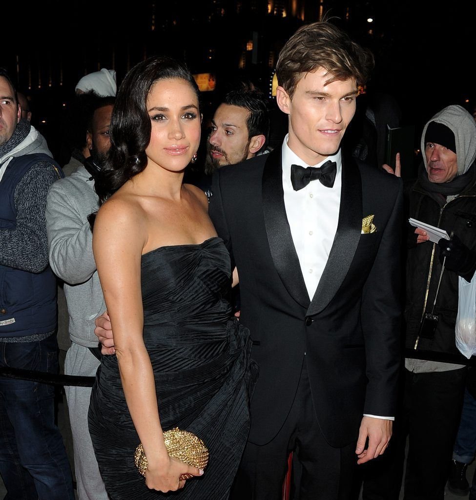 Meghan Markle & Oliver Cheshire attend The Global Gift Gala, a charity charity dinner and auction raising funds for the Eva Longoria Fund and Caudwell Children held at ME Hotel, in London, United Kingdom, 19 Nov 2013 (Photo by WENN.com).