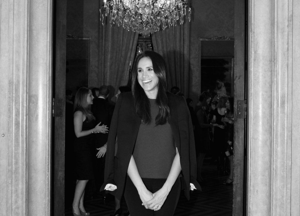 Meghan Markle attends RELAIS & CHATEAUX 60th Anniversary Guest Chef Dinner Launch at Consulate General of France on October 1, 2014 in New York City.  (Photo by Bryan Bedder/Getty Images for Relais & Chateaux)