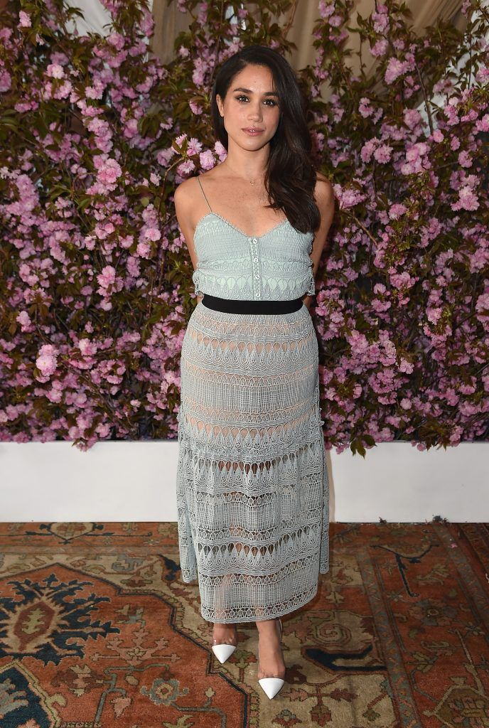 Meghan Markle attends Glamour and L'Oreal Paris Celebrate 2016 College Women Of The Year at NoMad Hotel Rooftop on April 27, 2016 in New York City.  (Photo by Nicholas Hunt/Getty Images for Glamour)