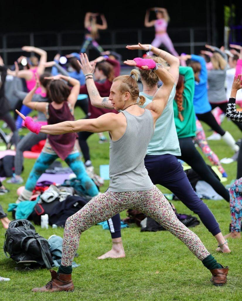 Over 5,000 people descended on Dublin's Herbert park for WellFest, Ireland's only health, wellness and fitness festival. Pic: Marc O'Sullivan