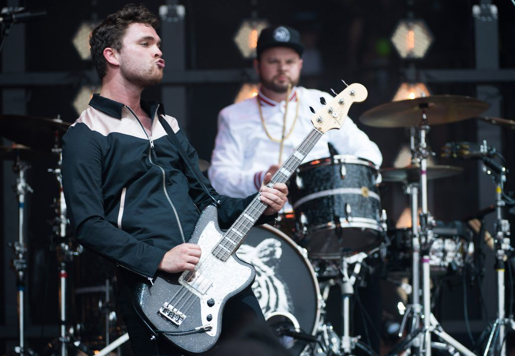 Mike Kerr and Ben Thatcher of Royal Blood perform on day 2 of the Glastonbury Festival 2017 at Worthy Farm, Pilton on June 23, 2017 in Glastonbury, England.  (Photo by Ian Gavan/Getty Images)