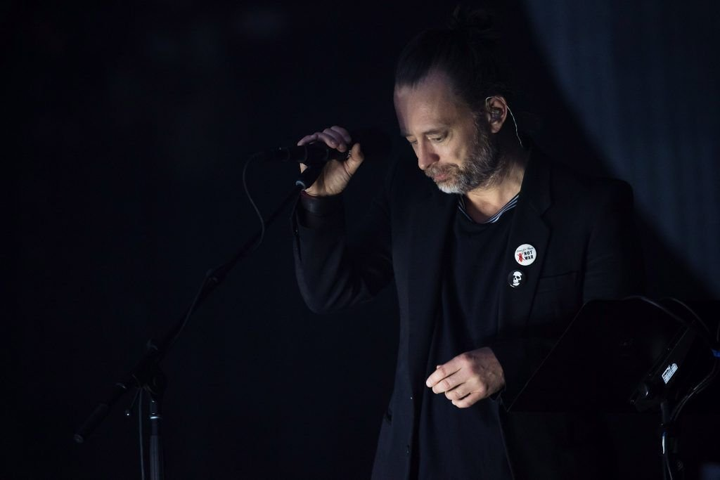 Thom Yorke of Radiohead performs on day 2 of the Glastonbury Festival 2017 at Worthy Farm, Pilton on June 23, 2017 in Glastonbury, England.  (Photo by Ian Gavan/Getty Images)