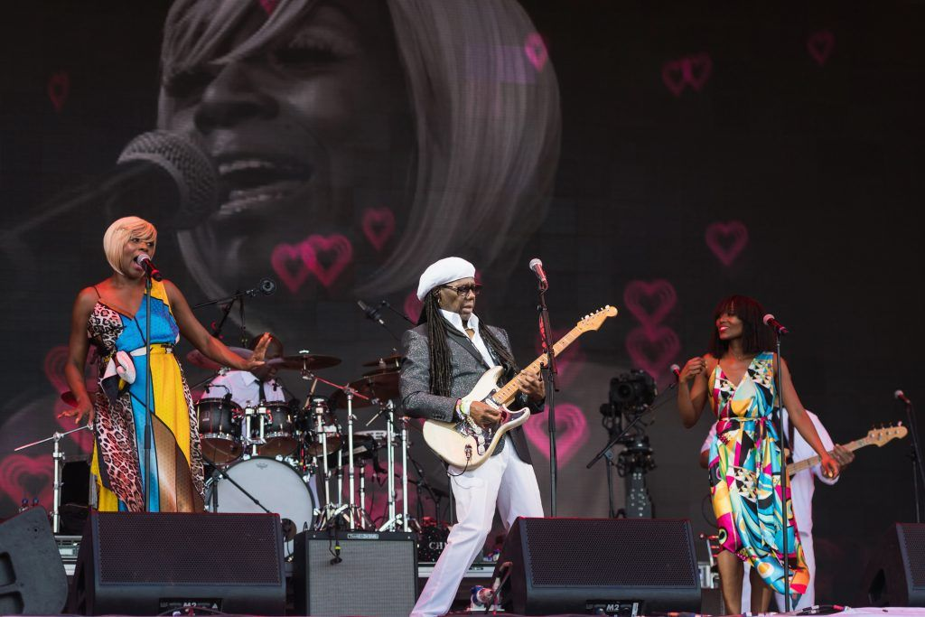 Nile Rodgers of Chic performs on day 4 of the Glastonbury Festival 2017 at Worthy Farm, Pilton on June 25, 2017 in Glastonbury, England.  (Photo by Ian Gavan/Getty Images)