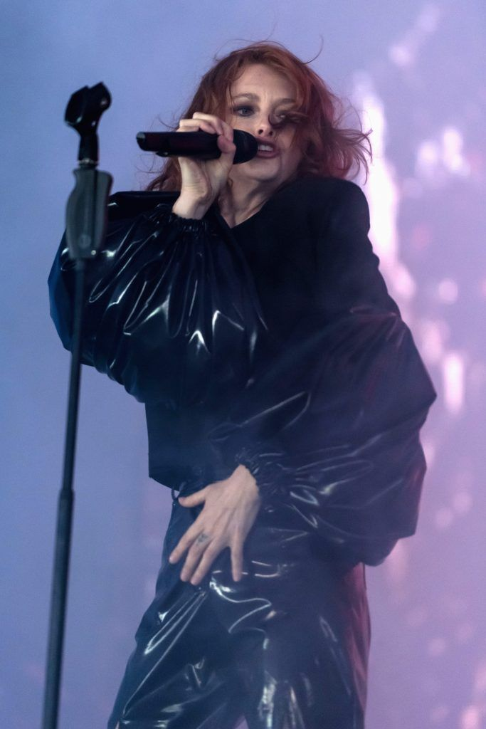 Alison Goldfrapp of Goldfrapp performs on day 4 of the Glastonbury Festival 2017 at Worthy Farm, Pilton on June 25, 2017 in Glastonbury, England.  (Photo by Ian Gavan/Getty Images)