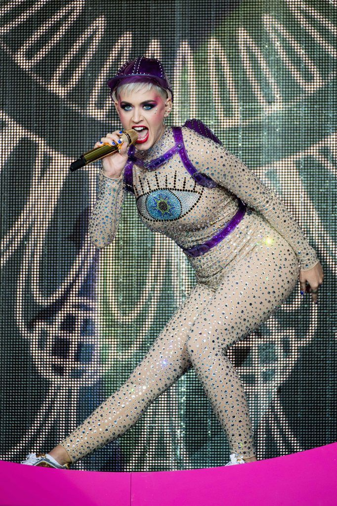 Katy Perry performs on day 3 of the Glastonbury Festival 2017 at Worthy Farm, Pilton on June 24, 2017 in Glastonbury, England.  (Photo by Ian Gavan/Getty Images)