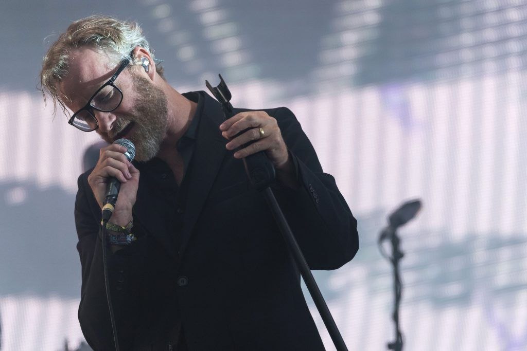 Matt Berninger of The National performs on day 3 of the Glastonbury Festival 2017 at Worthy Farm, Pilton on June 24, 2017 in Glastonbury, England.  (Photo by Ian Gavan/Getty Images)