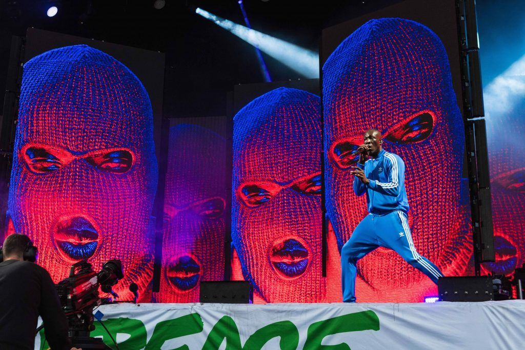 Stormzy performs on day 3 of the Glastonbury Festival 2017 at Worthy Farm, Pilton on June 24, 2017 in Glastonbury, England.  (Photo by Ian Gavan/Getty Images)