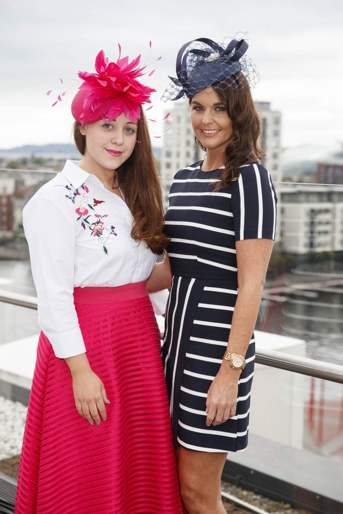 Frieda Lawless and Jane Swarbrigg pictured at the launch of the Galway Races Summer Festival where the judges for the g Hotel Best Dressed Lady and the g Hotel Best Hat were revealed. The event will take place on August 3rd #gHotelBestDressed. Picture by Andres Poveda