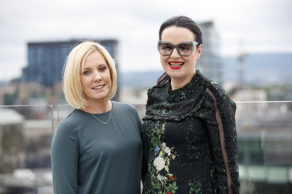 Aislinn O'Driscoll  and Triona McCarthy pictured at the launch of the Galway Races Summer Festival where the judges for the g Hotel Best Dressed Lady and the g Hotel Best Hat were revealed. The event will take place on August 3rd #gHotelBestDressed. Picture by Andres Poveda