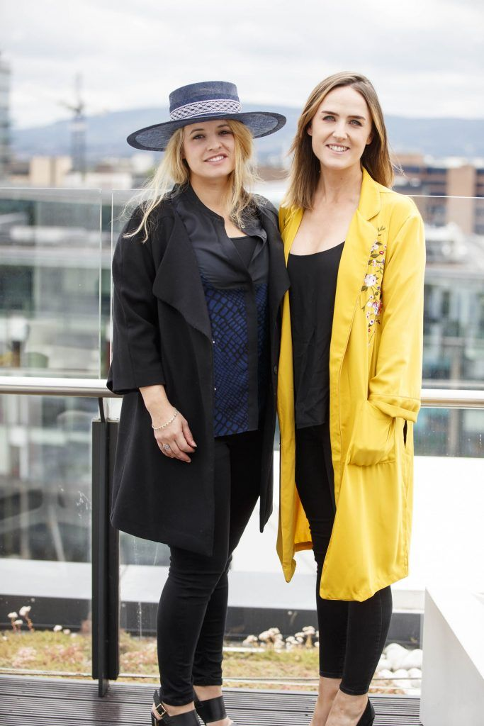 Freya Oatway and Sophie O'Hare pictured at the launch of the Galway Races Summer Festival where the judges for the g Hotel Best Dressed Lady and the g Hotel Best Hat were revealed. The event will take place on August 3rd #gHotelBestDressed. Picture by Andres Poveda