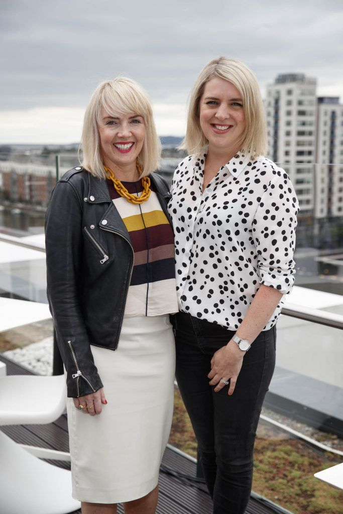 Meabh Barry and Jennifer Stevens pictured at the launch of the Galway Races Summer Festival where the judges for the g Hotel Best Dressed Lady and the g Hotel Best Hat were revealed. The event will take place on August 3rd #gHotelBestDressed. Picture by Andres Poveda
