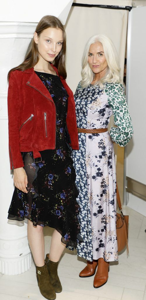 Anastasia with Olivia Tracey at the Arnotts Autumn Winter 2017 Womenswear Collection Preview. Photo by Kieran Harnett