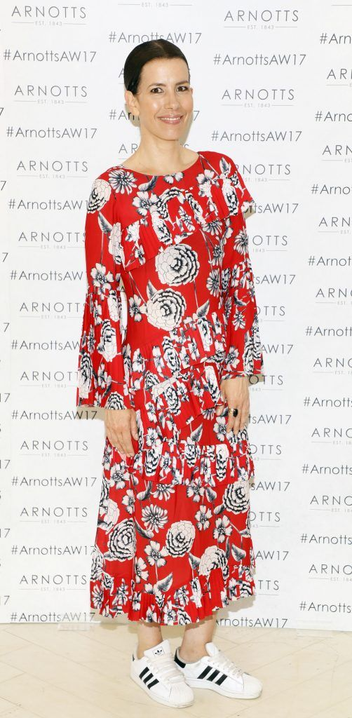 Annemarie O'Connor at the Arnotts Autumn Winter 2017 Womenswear Collection Preview. Photo by Kieran Harnett