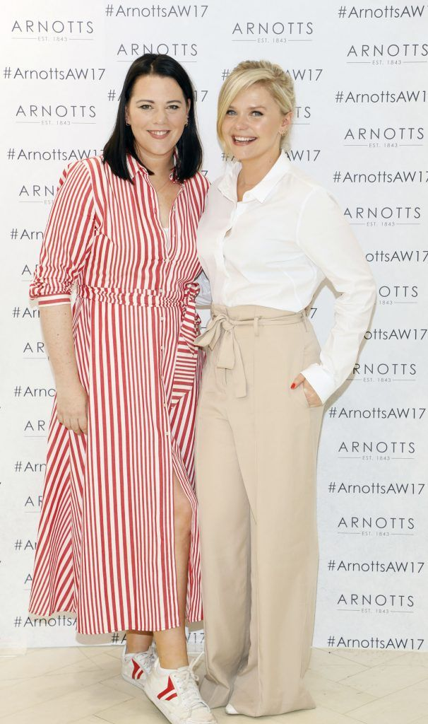 Corina Gaffey and Dominique McMullan at the Arnotts Autumn Winter 2017 Womenswear Collection Preview. Photo by Kieran Harnett