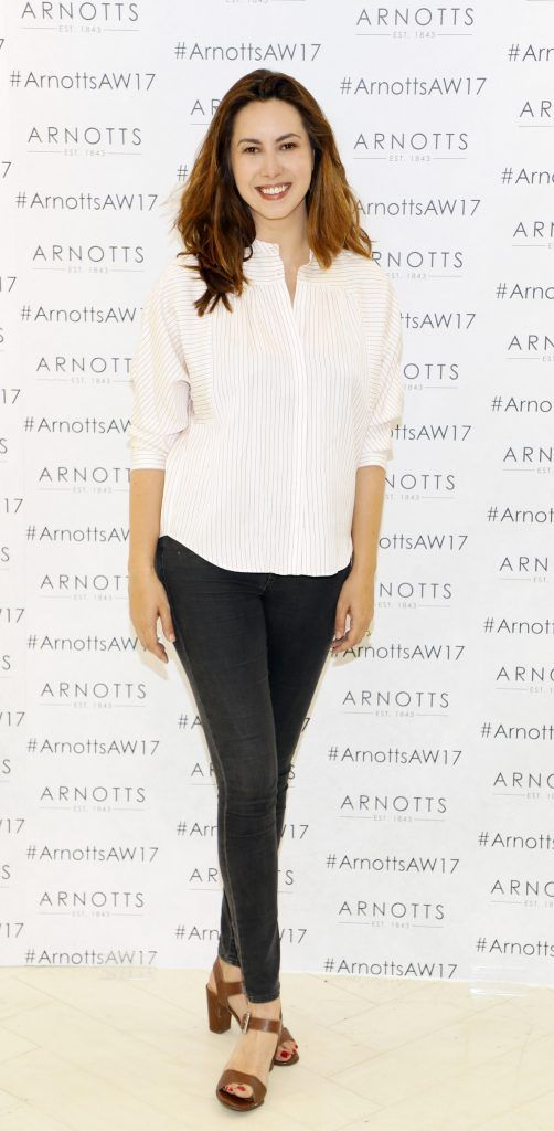 Elaine Prendeville at the Arnotts Autumn Winter 2017 Womenswear Collection Preview. Photo by Kieran Harnett