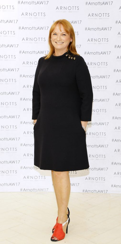 Valerie O'Neill at the Arnotts Autumn Winter 2017 Womenswear Collection Preview. Photo by Kieran Harnett