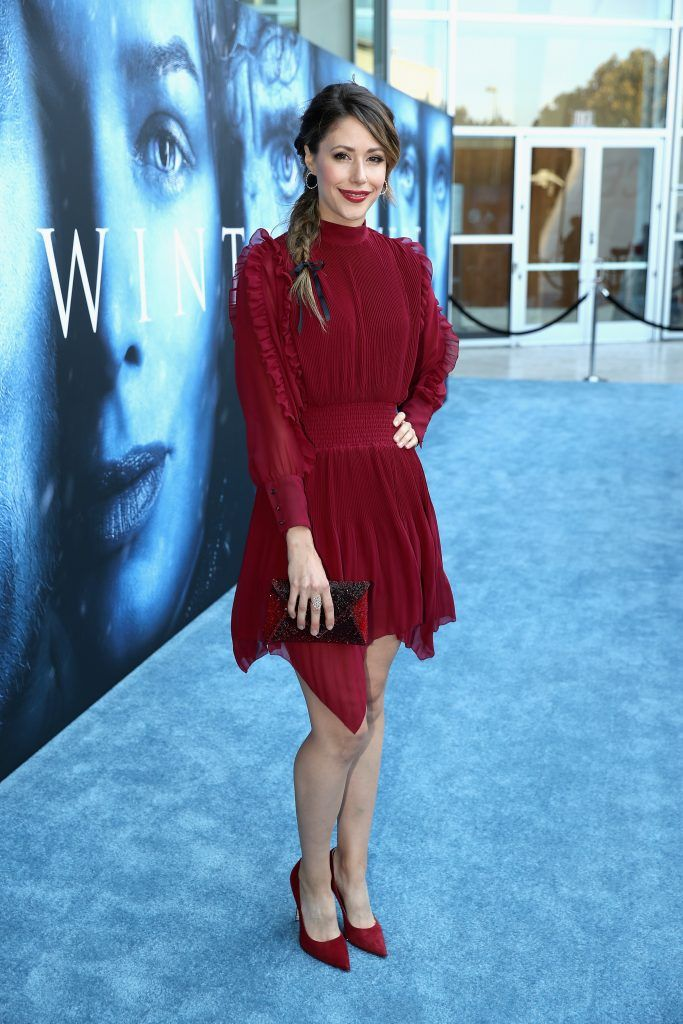"""Actor Amanda Crew attends the premiere of HBO's """"Game Of Thrones"""" season 7 at Walt Disney Concert Hall on July 12, 2017 in Los Angeles, California.  (Photo by Neilson Barnard/Getty Images)"""