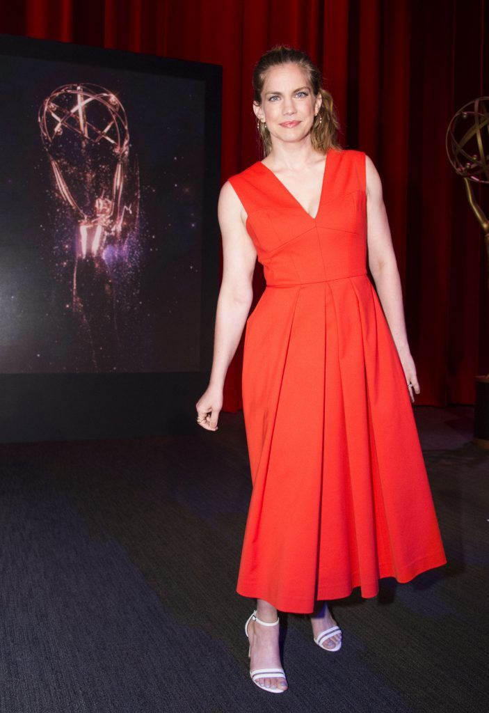 Actress Anna Chlumsky poses during the announcement of nominees for the 69th Emmy Awards at the Television Academy, on July 13, 2017, in Los Angeles, California.  (Photo by VALERIE MACON/AFP/Getty Images)