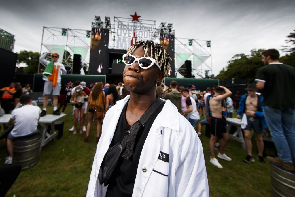 Dafe pictured at the Heineken 'Live Your Music' area, a new music experience that the crowd can control, at Longitude Festival 2017, Marlay Park. Picture by Andres Poveda