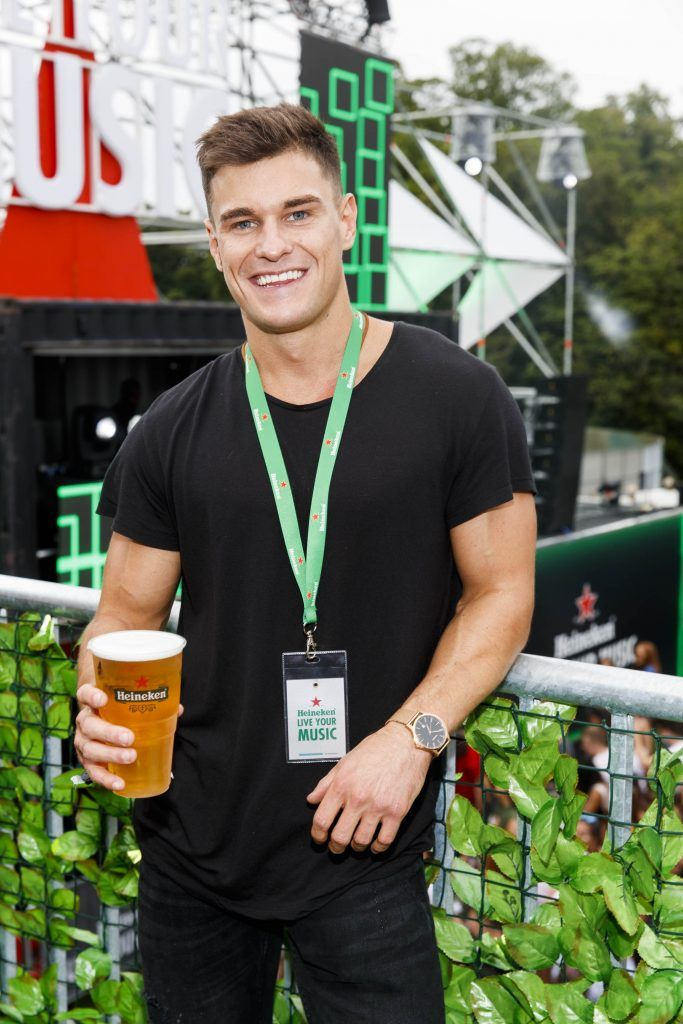 Rob Lipsett pictured at the Heineken 'Live Your Music' area, a new music experience that the crowd can control, at Longitude Festival 2017, Marlay Park. Picture by Andres Poveda