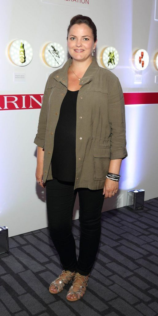 Clare Hogan at the unveil of the 8th Generation of Clarins Double Serum at the Marker Hotel, Dublin. Photo by Brian McEvoy Photography